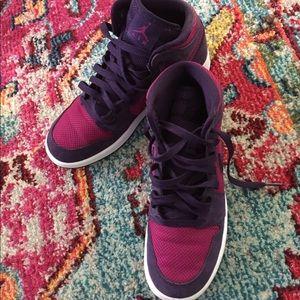 Purple Nike Dunk High Tops